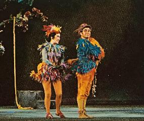 Shigemi Matsumoto as Papagena in The Magic Flute (San Francisco Opera) (with Sir Geraint Evans)